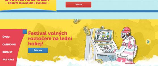 snímek obrazovky- hazardní web