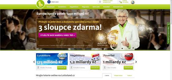 web www.lottoland.com/cs